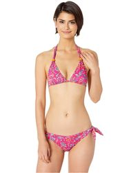 Etro - Floral Paisley Halter Bikini (purple Multi) Women's Swimwear - Lyst