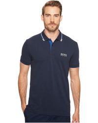 BOSS Athleisure - Paddy Pro Polo T Shirt Navy - Lyst