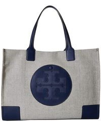 5dd4e233f62 Lyst - Tory Burch Ella Embroidered Mini Tote in Black