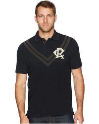 Polo Ralph Lauren - Distressed Chevron Pique Polo Shirt (polo Black) Men's Clothing - Lyst