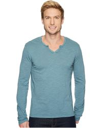 Mod-o-doc - Les Carillo Long Sleeve Notch Slub Jersey V-neck - Lyst