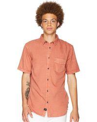 Globe - Goodstock Vintage Short Sleeve Shirt (dusty Coral) Men's Short Sleeve Button Up - Lyst