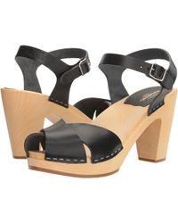 Swedish Hasbeens - Merci Sandal (black) Women's Clog/mule Shoes - Lyst