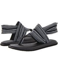 Sanuk - Yoga Sling 2 (black) Women's Sandals - Lyst