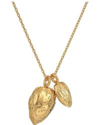 Tory Burch - Almond Charm Necklace (brass) Necklace - Lyst
