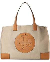 9e26547d818 Tory Burch - Ella Canvas Tote (natural ivory) Handbags - Lyst