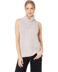 6a2f65ed5aefa BB Dakota - Sweater With Me Cable Knit Sweater Vest (mauve Rose) Women s  Vest