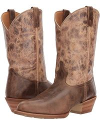 Dingo - Joe (chocolate/tan) Cowboy Boots - Lyst