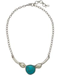 Lucky Brand - Turquoise Collar Necklace (silver) Necklace - Lyst