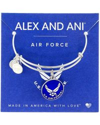 ALEX AND ANI - Us Air Force (shiny Silver) Bracelet - Lyst