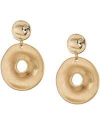 Robert Lee Morris - Gold Disc Double Drop Earrings (gold) Earring - Lyst