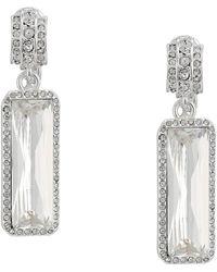 Lauren by Ralph Lauren - Large Stone Clip Drop Earrings (silver) Earring - Lyst