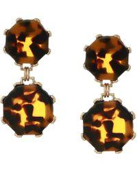 Shashi - Cassie Tortoise Earrings (brown) Earring - Lyst