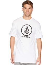 Volcom - Crisp Stone Short Sleeve Tee (blue Bird) Men's T Shirt - Lyst