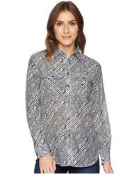 Lauren by Ralph Lauren - Silk Cotton Voile Long Sleeve Shirt - Lyst