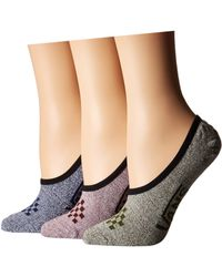 Vans - Basic Marled Canoodle 3-pack (multi) Women's No Show Socks Shoes - Lyst