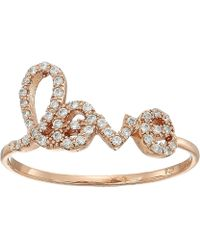 Shashi | Pave Love Ring | Lyst