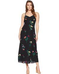 Vince Camuto - Sleeveless Tropical Garden Bouquet Maxi Dress (rich Black) Women's Dress - Lyst