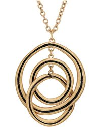 The Sak - Ribbed Orbit Pendant Necklace 28 (gold) Necklace - Lyst