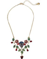 Betsey Johnson - Rose And Skull Bib Necklace (multi) Necklace - Lyst