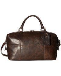 Frye - Logan Overnight (dark Brown Antique Pull Up) Satchel Handbags - Lyst