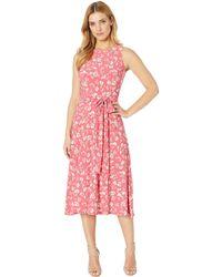 Lauren by Ralph Lauren - B800 Blythe Floral Matte Jersey Felia Sleeveless Day Dress (starfruit/peach/colonial Cream) Women's Clothing - Lyst