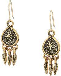 ALEX AND ANI - Dreamcatcher Hook Earrings (rafaelian Gold) Earring - Lyst