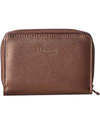 Lipault - Miss Plume Compact Wallet (pink Gold) Wallet Handbags - Lyst