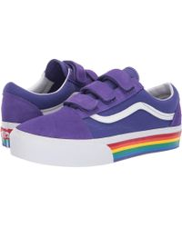 82921429841 Lyst - Vans Womens Glitter Rainbow Black Old Skool Trainers in Black