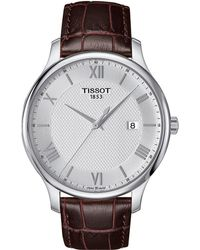 Tissot - Tradition - T0636101603800 (mother-of-pearl/brown) Watches - Lyst
