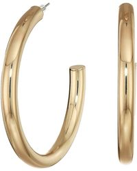Guess - Large Iridescent Hoop Earrings (silver) Earring - Lyst