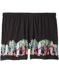 Tommy Bahama - Knit Boxer With Screen Print (black/screen) Men's Underwear - Lyst