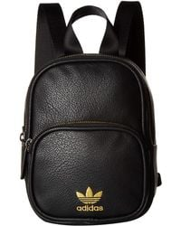adidas Originals - Originals Mini Pu Leather Backpack (black gold) Backpack  Bags - 4a9d84458d1fa