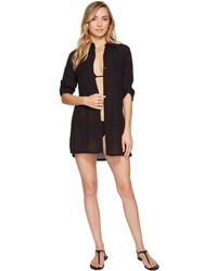 Lauren by Ralph Lauren - Crushed Camp Shirt Cover-up - Lyst