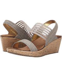 Skechers - Cali - Beverlee - Sitten Kitten (black) Women's Sandals - Lyst