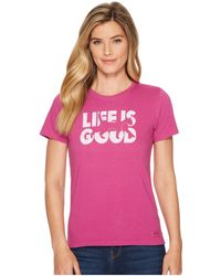 Life Is Good. - Knockout Cat Crusher Tee - Lyst