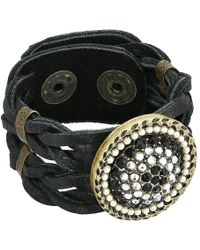 Leatherock - Mariah Bracelet (black) Bracelet - Lyst
