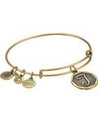 ALEX AND ANI - Initial T Charm Bangle - Lyst