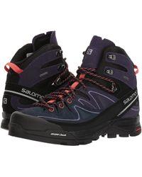 Yves Salomon - X Alp Mid Ltr Gtx (shadow/castor Gray/aruba Blue) Women's Shoes - Lyst
