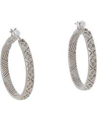 The Sak - Etched Hoop Earrings (silver) Earring - Lyst