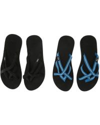 de88a66f0 Teva - Olowahu 2-pack (mibob felicitas Black) Women s Sandals - Lyst