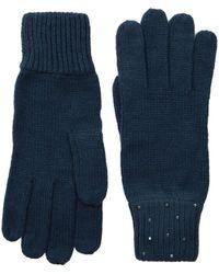 Vince Camuto - Rhinestone Rib Gloves (dark Charcoal Melange) Dress Gloves - Lyst