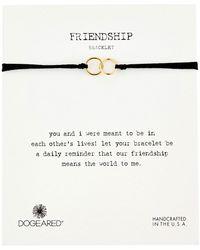 Dogeared - Friendship Double Linked Rings Silk Bracelet - Lyst