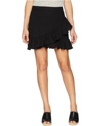 1.STATE - Ruffled Edge Mini Skirt (rich Black) Women's Skirt - Lyst