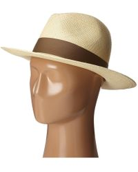 Hat Attack - Panama Continental (pecan No Trim) Traditional Hats - Lyst