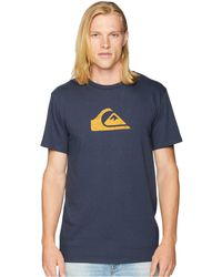 Quiksilver - Comp Logo Tee (black/white) Men's T Shirt - Lyst