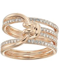 Swarovski - Lifelong Wide Ring - Lyst
