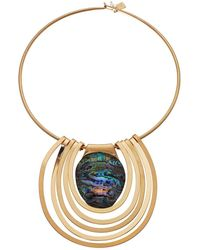 Robert Lee Morris - Abalone And Gold Round Wire Necklace - Lyst