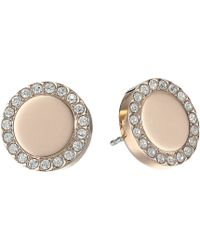 Fossil | Glitz Metal Stud Earrings | Lyst