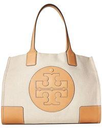 76b84a61b5ed Tory Burch - Ella Canvas Mini Tote (navy) Handbags - Lyst